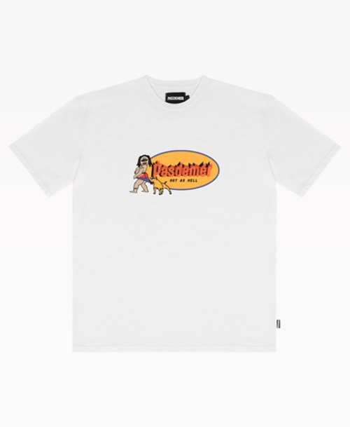 Pas De Mer Hot As Hell Tee White Front