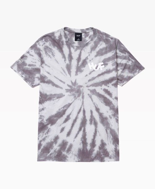 Huf Haze Brush Tie Dye Tee Black Front