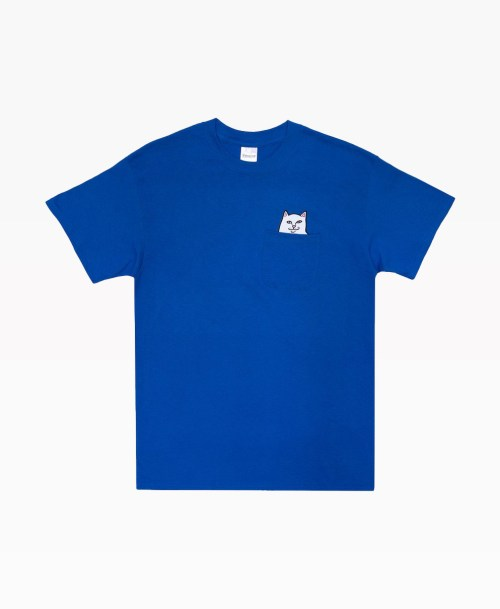 Ripndip Lord Nermal Pocket Tee Royal Blue Front