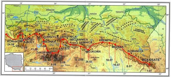 Karpaty mapa