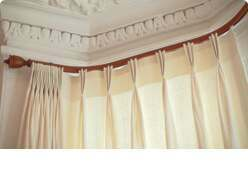 bay window curtain poles tracks and rails