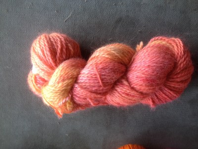 Red Barn Yarn Llama Sparkle in Anemone