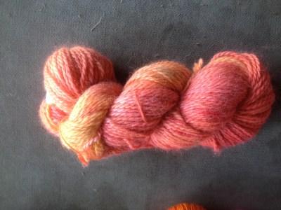 Red Barn Yarn Llama Sparkle in Anemone
