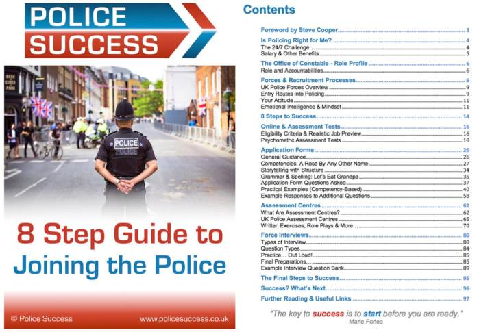 Joining the police guide