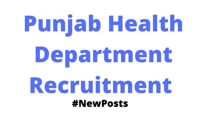 Punjab Health Department Vacancy
