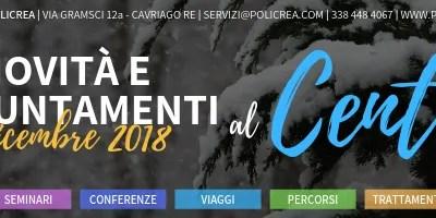 Novità e Appuntamenti – Dicembre 2018