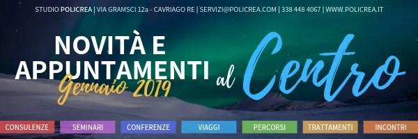 Novità e appuntamenti – Gennaio 2019