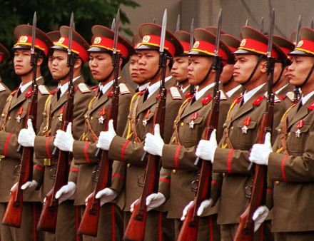 Image by Helene C. Stikkel via Wikimedia Commons. https://commons.wikimedia.org/wiki/File:Soldiers_of_Vietnam_People%27s_Army.jpg