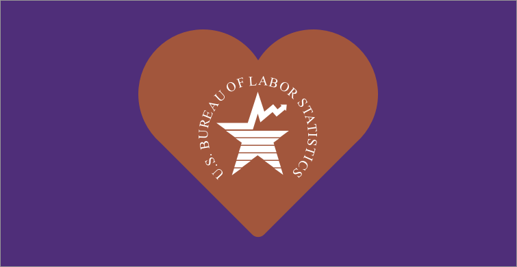 BLS logo surrounded by a heart