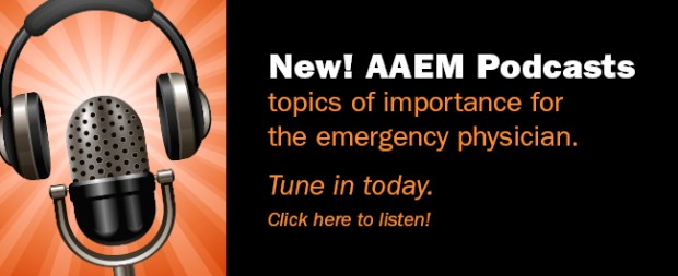 AAEM podcasts website banner