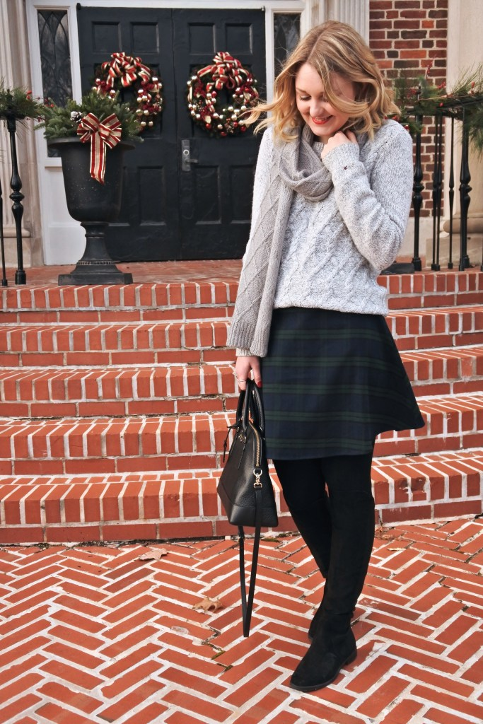 Perfect plaid skirt for the holidays