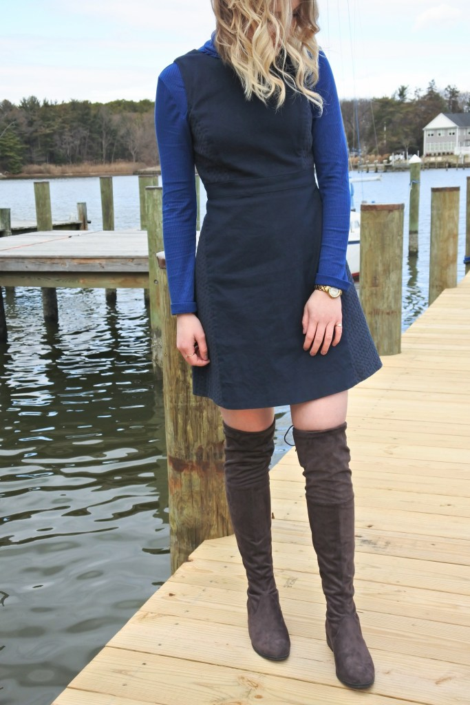 Dress with OTK boots