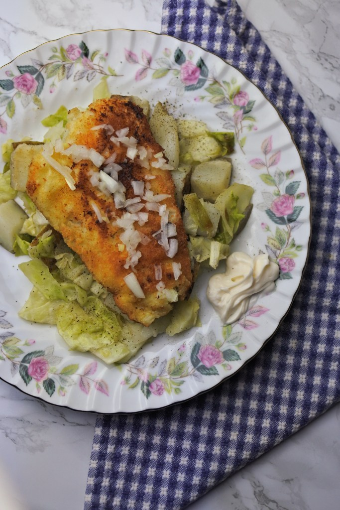 Cod with cabbage