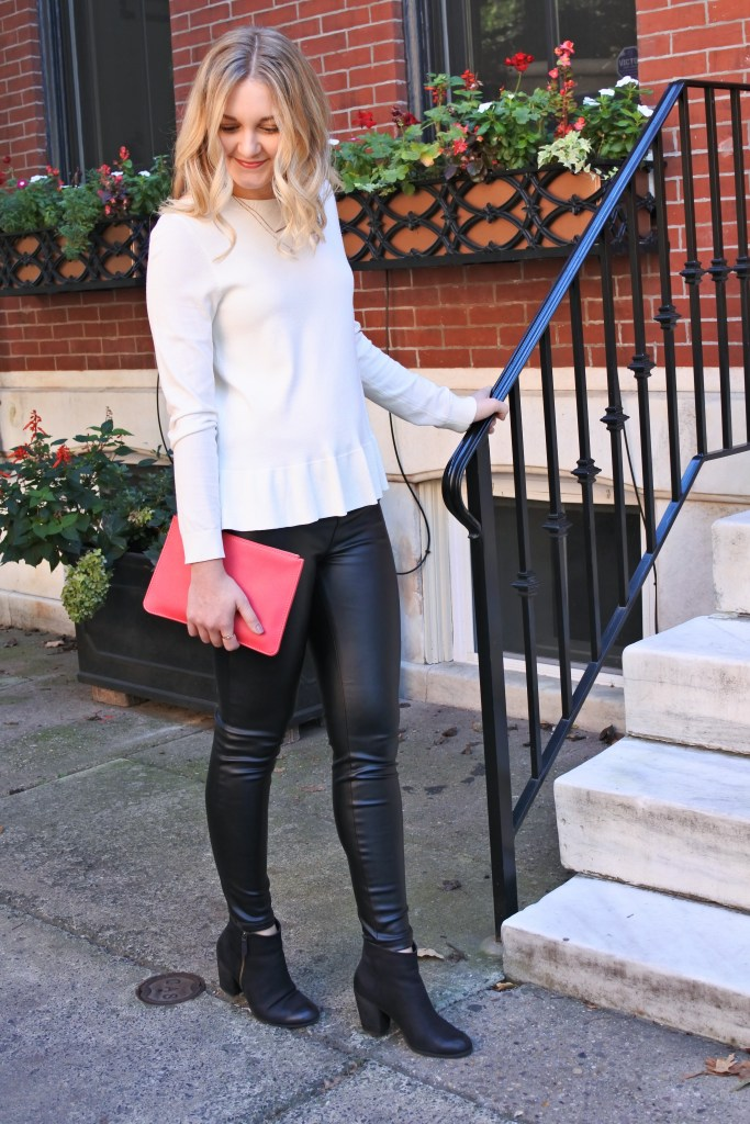 what to wear with leather leggings 4 outfits from desk