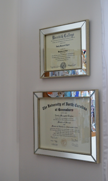 mirrored frames from michaels but similar here i also added these unique paintings we bought from our honeymoon in saint lucia - Michaels Diploma Frames