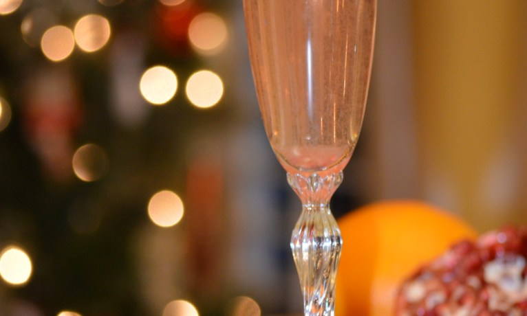 Raspberry Orange Champagne Sparkler