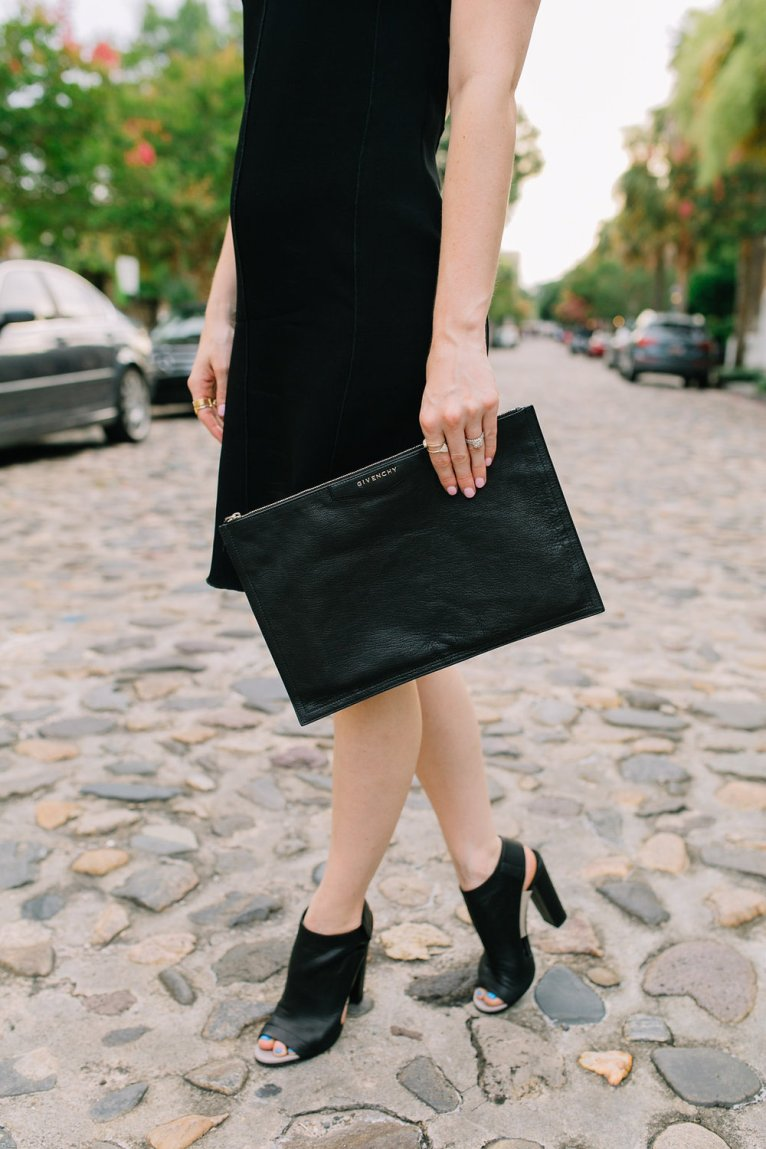 Givency Antigona Clutch and Vince Open-Toe Booties