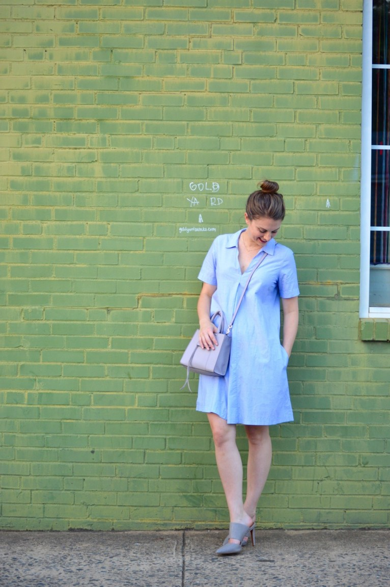 Shirt dress for fall