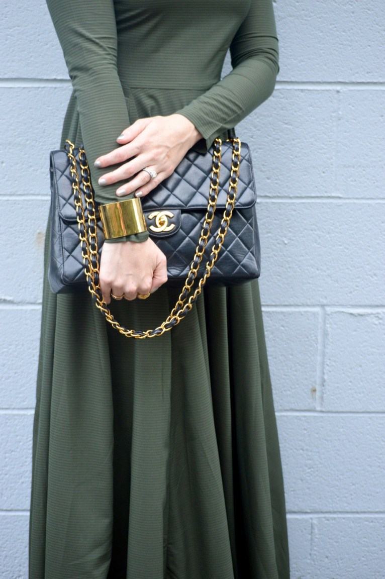 Vintage Chanel Black with Gold Hardware
