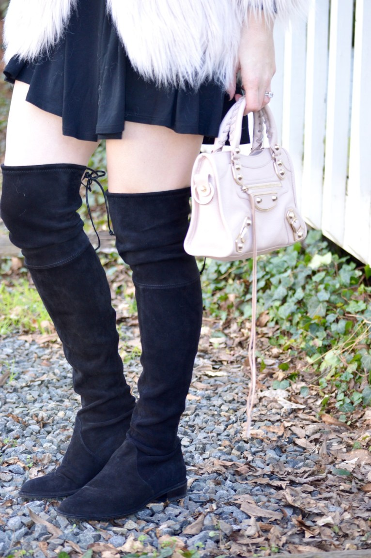 stuart weitzman lowland boots and balenciaga mini city