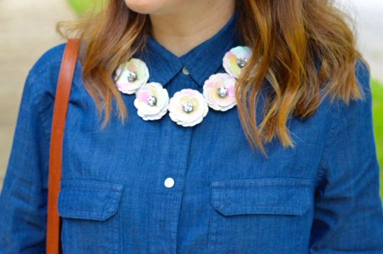 J.Crew Floral Statement Necklace