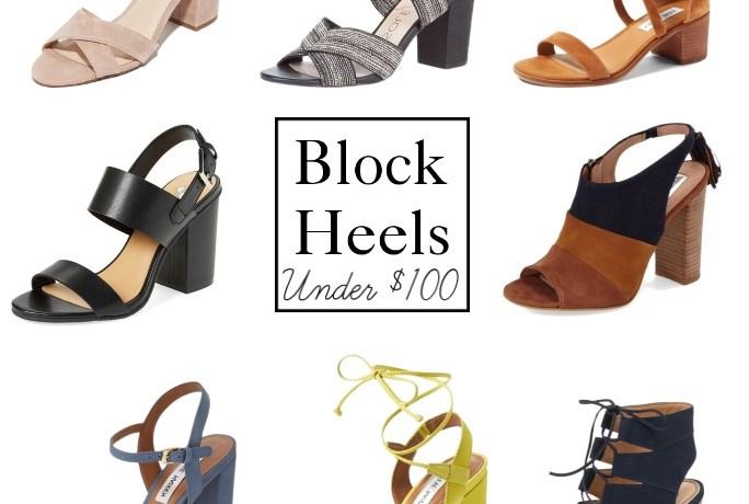Block Heels Under $100