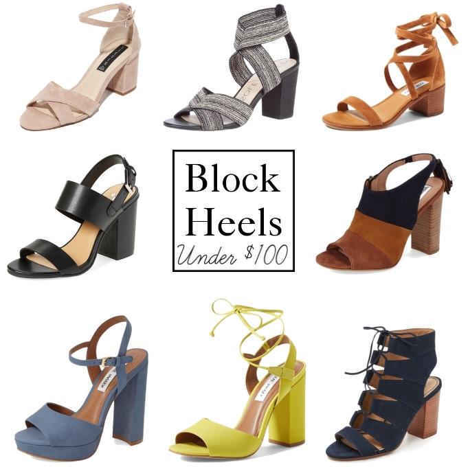 Block Heels Under $100 || PolishedClosets.com