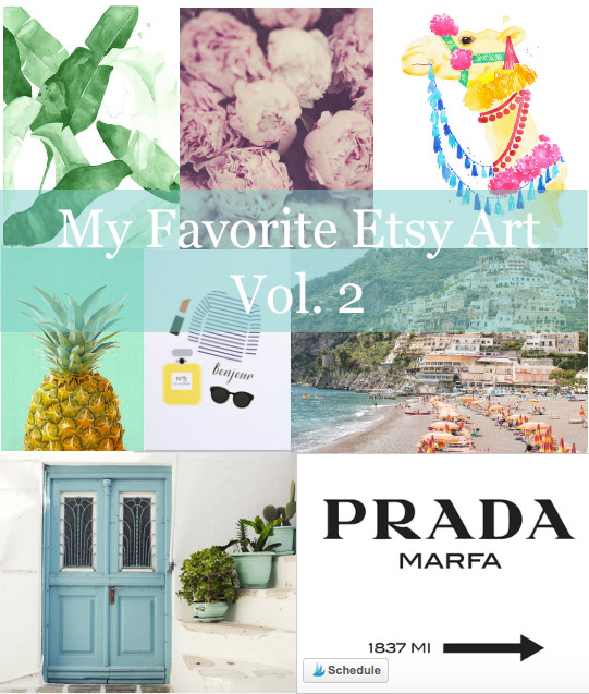 The Best of Etsy Art || @PolishedClosets
