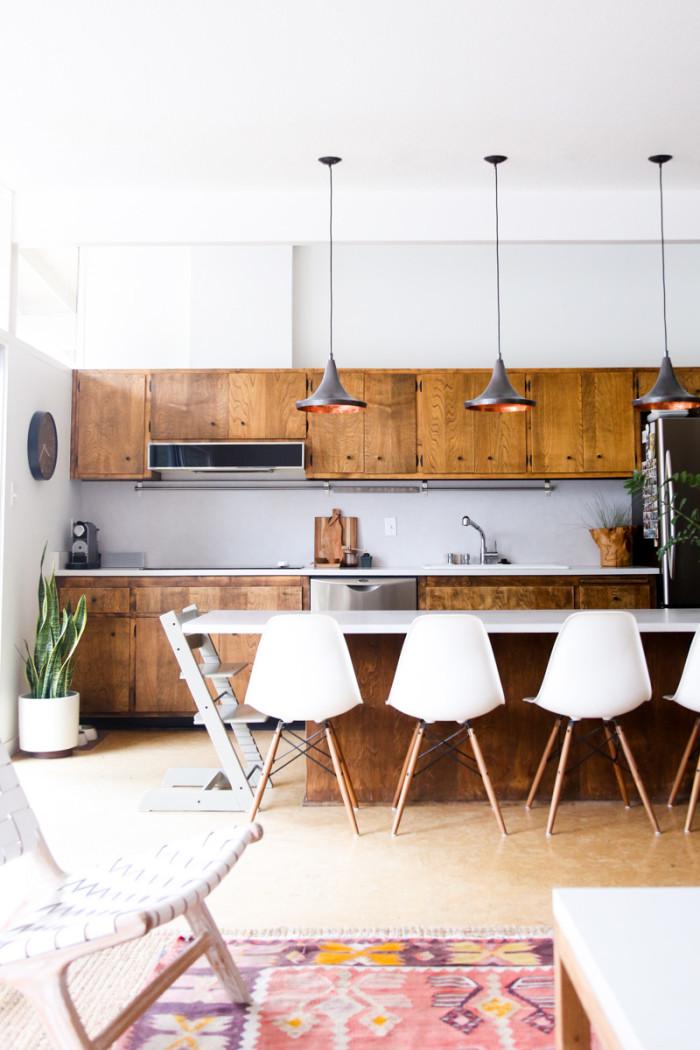 modern bohemian kitchen