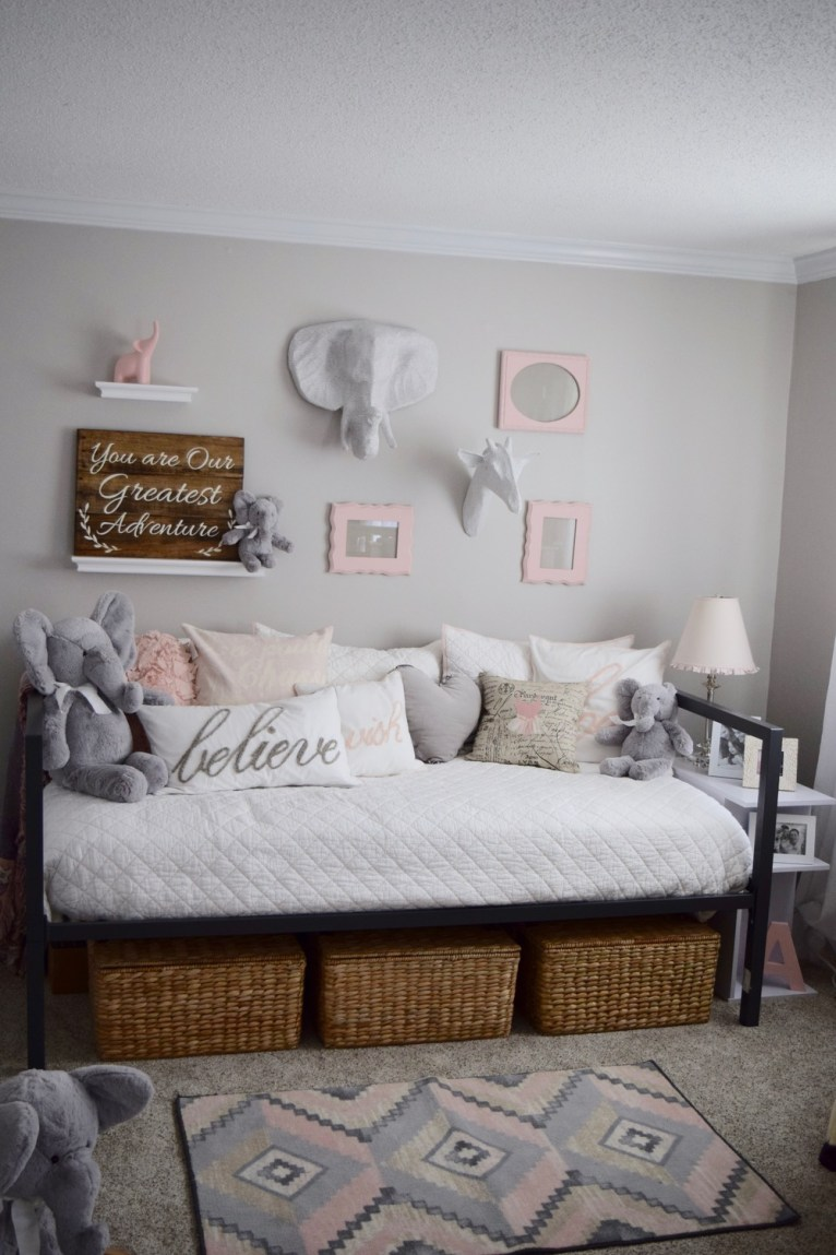 Pink & Gray Nursery || www.polishedclosets.com