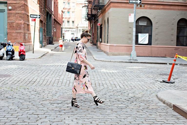 Pink Midi Dress // www.polishedclosets.com