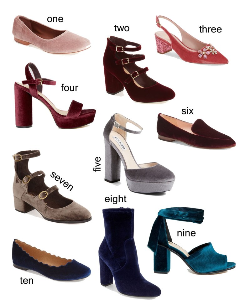 Velvet Shoes // www.polishedclosets.com
