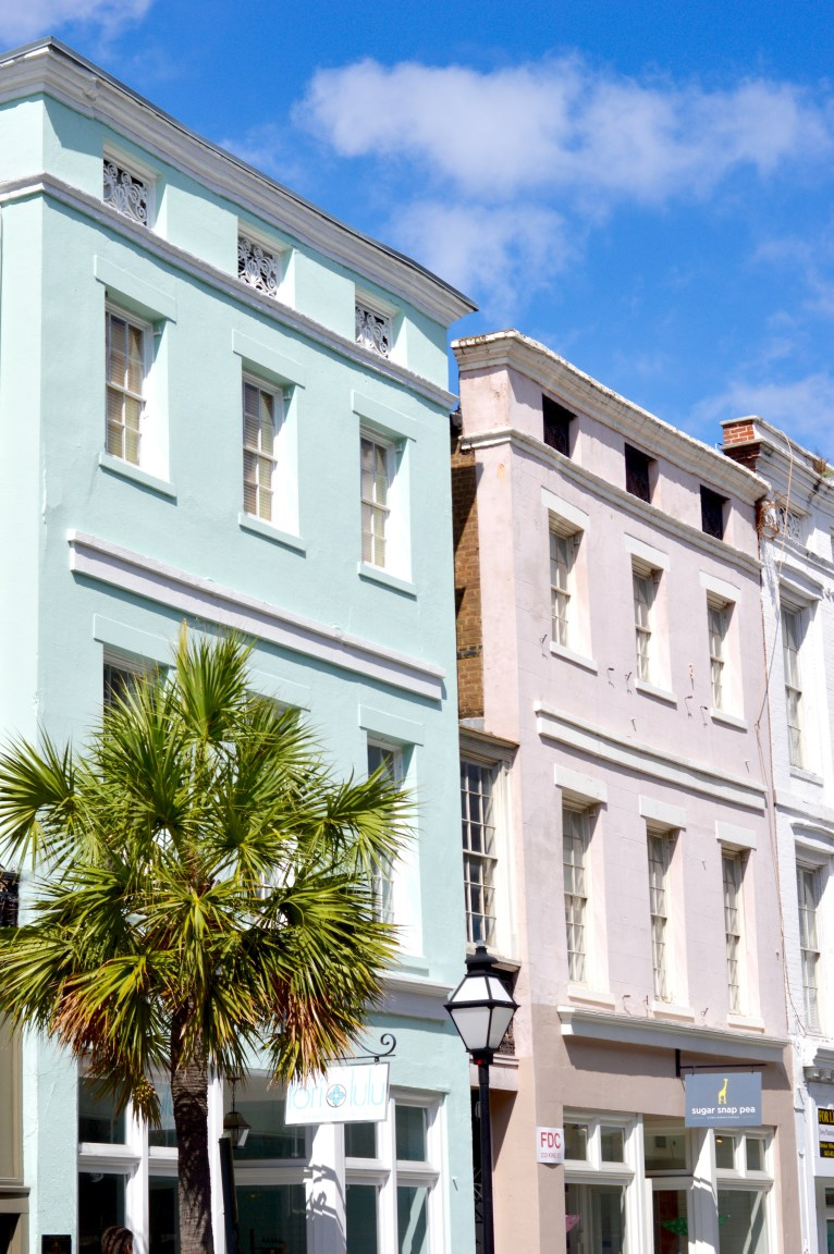 Colorful Charleston Buildings // www.polishedclosets.com