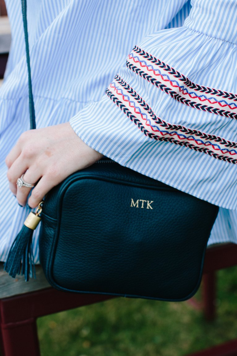 Gigi New York Monogrammed Cross Body Bag // www.polishedclosets.com