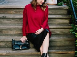 Chicwish Red Sweater // www.polishedclosets.com
