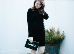 Black Velvet Dress // www.polishedclosets.com