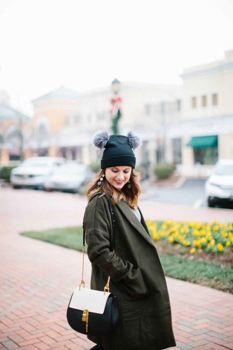Two Poof Beanie // www.polishedclosets.com