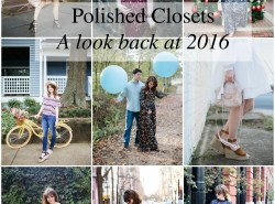 Polished Closets a year in review // Black and white ombre dress // www.polishedclosets.com
