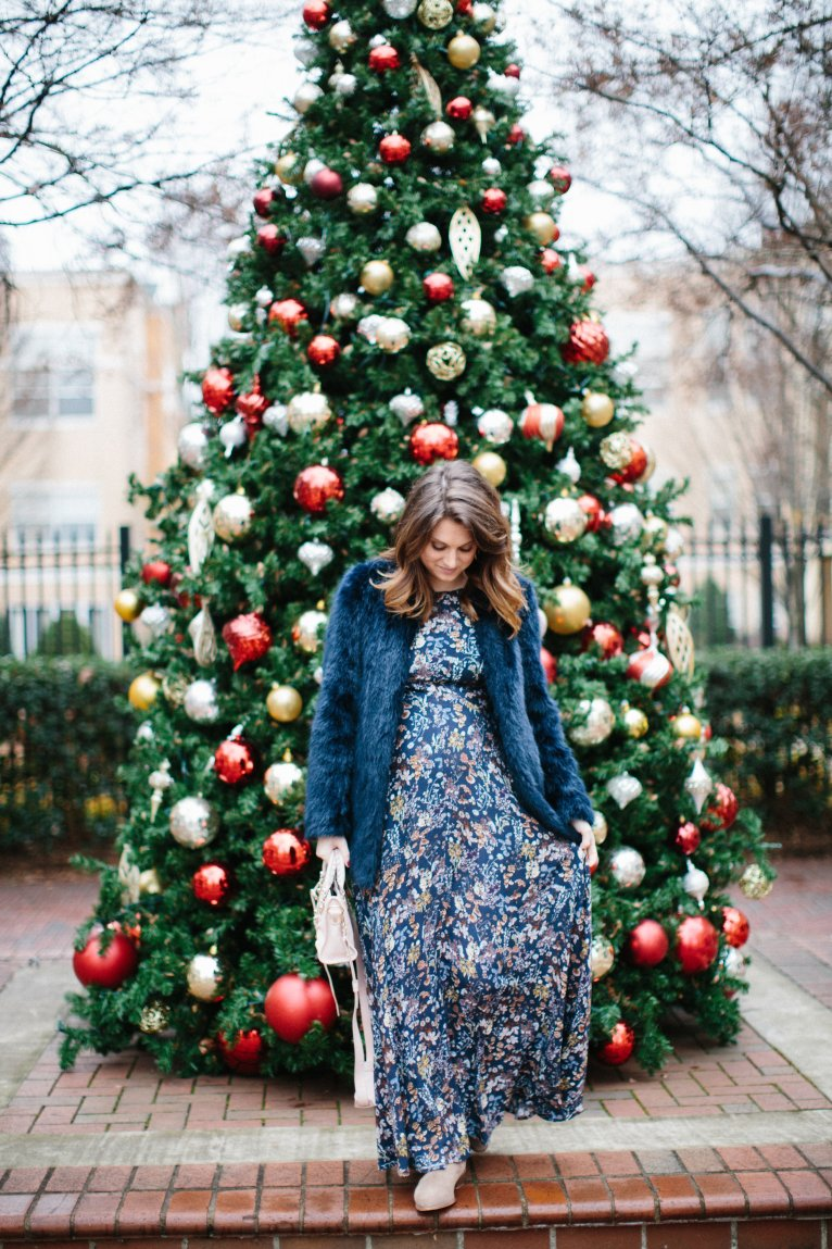 how to wear a maxi dress in winter // www.polishedclosets.com