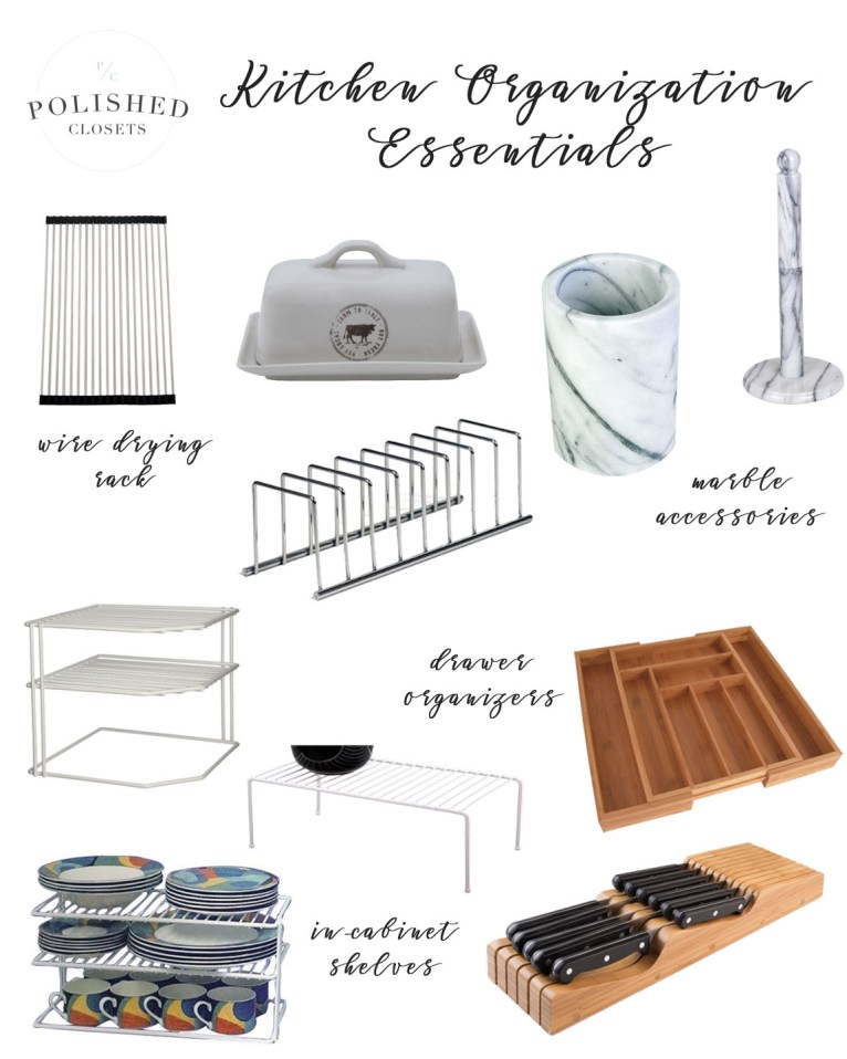 kitchen organization essentials // www.polishedclosets.com