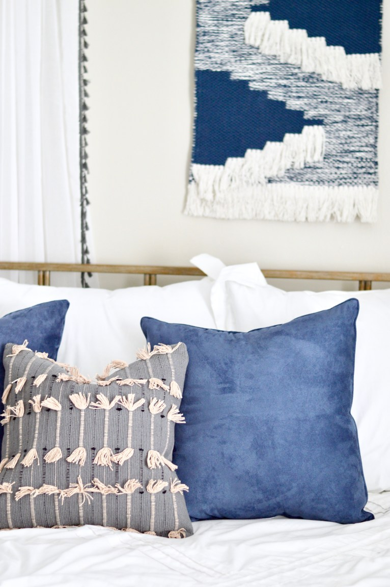 Navy and Gray Bedroom // www.polishedclosets.com