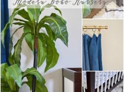 Modern Boho Nursery Design // www.polishedclosets.com