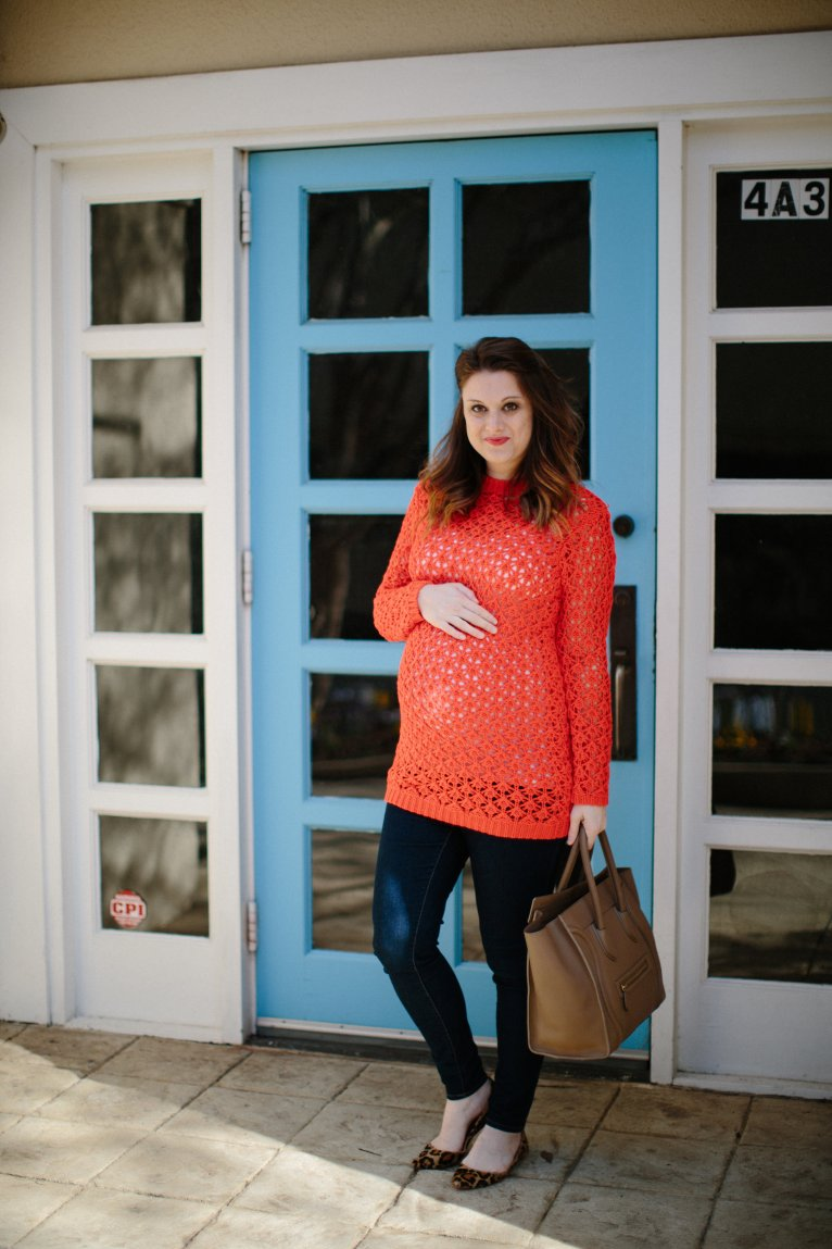 Red Tunic Sweater // www.polishedclosets.com