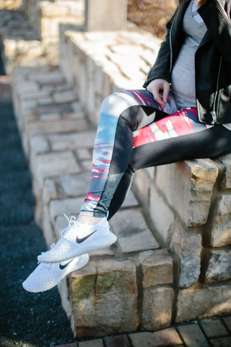 colorful workout leggings // www.polishedclosets.com