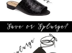 Black Tie Slides // www.polishedclosets.com