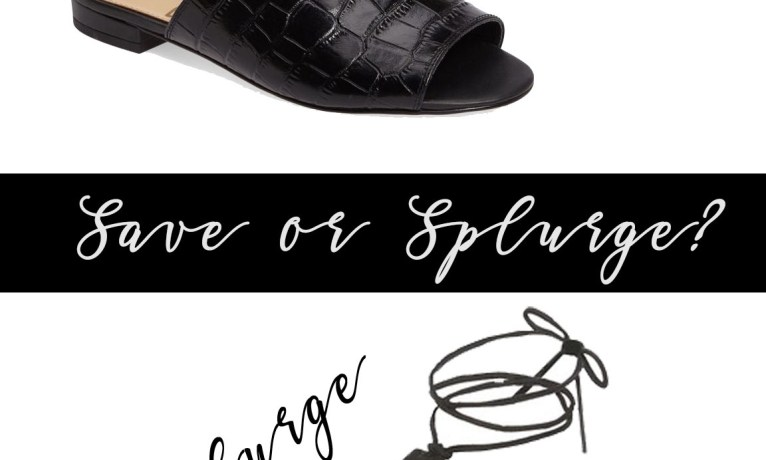 Save or Splurge? My Favorite Slide Shoes