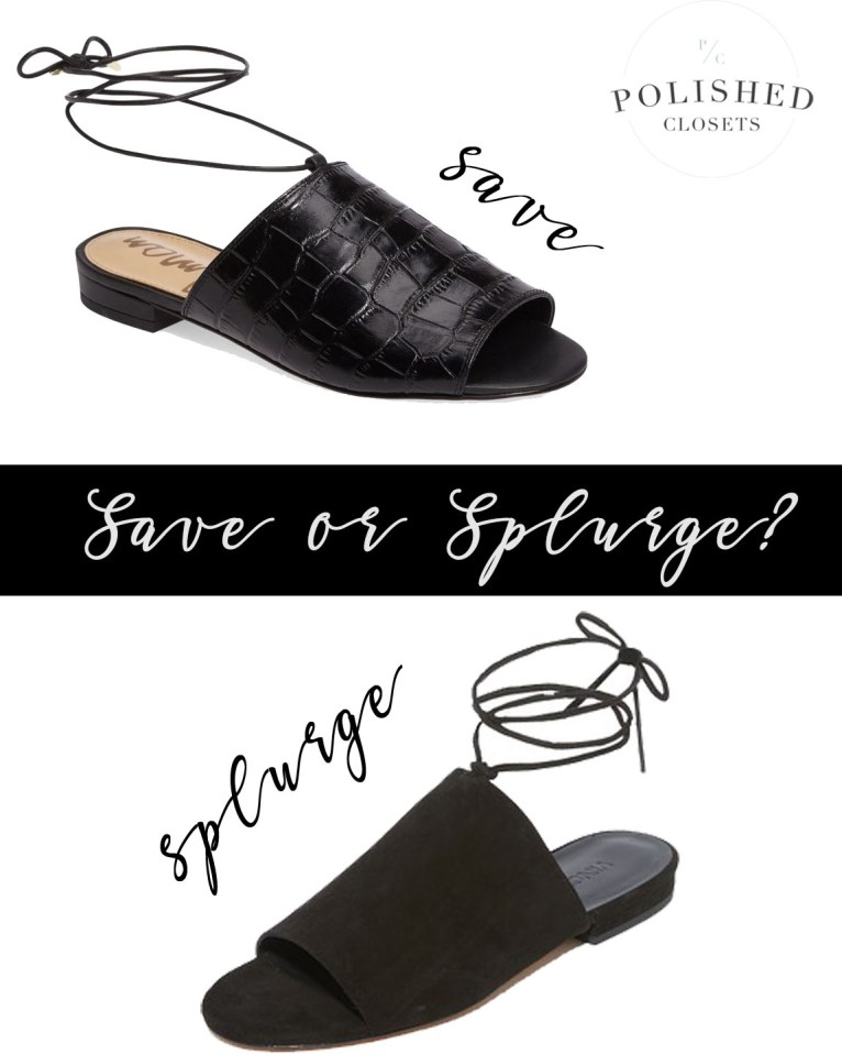 Save or Splurge? My Favorite Slides Shoes by Polished Closets