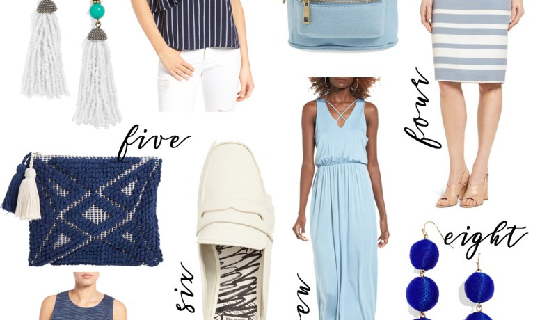 The Look: Blue and White Spring Outfit Under $100