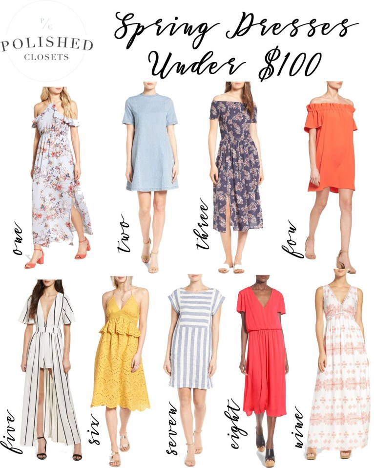 9 Spring Dresses for 2017 Under $100 by fashion blogger Maggie from Polished Closets