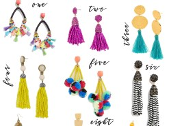 tassel earrings // www.polishedclosets.com